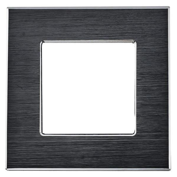Рамка на один модуль из алюминия. Черная