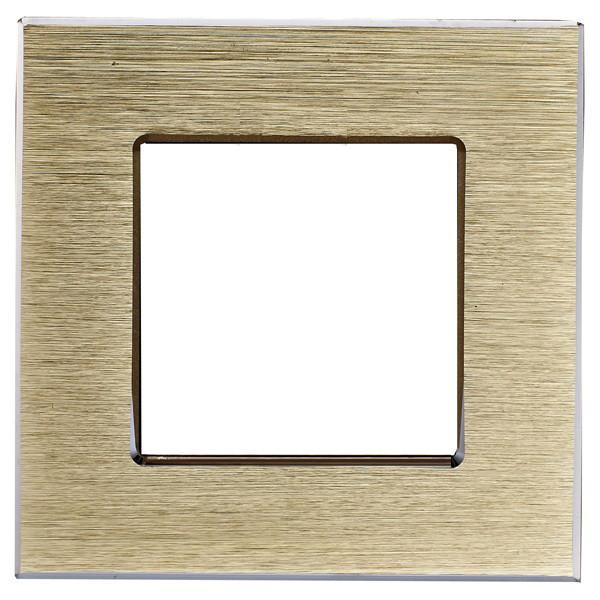 Рамка на один модуль из алюминия. Золотистая