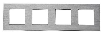 Рамка на четыре модуля из алюминия. Серая