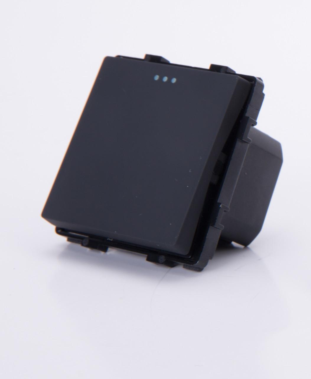 Одноклавишный модуль-выключатель, Черный