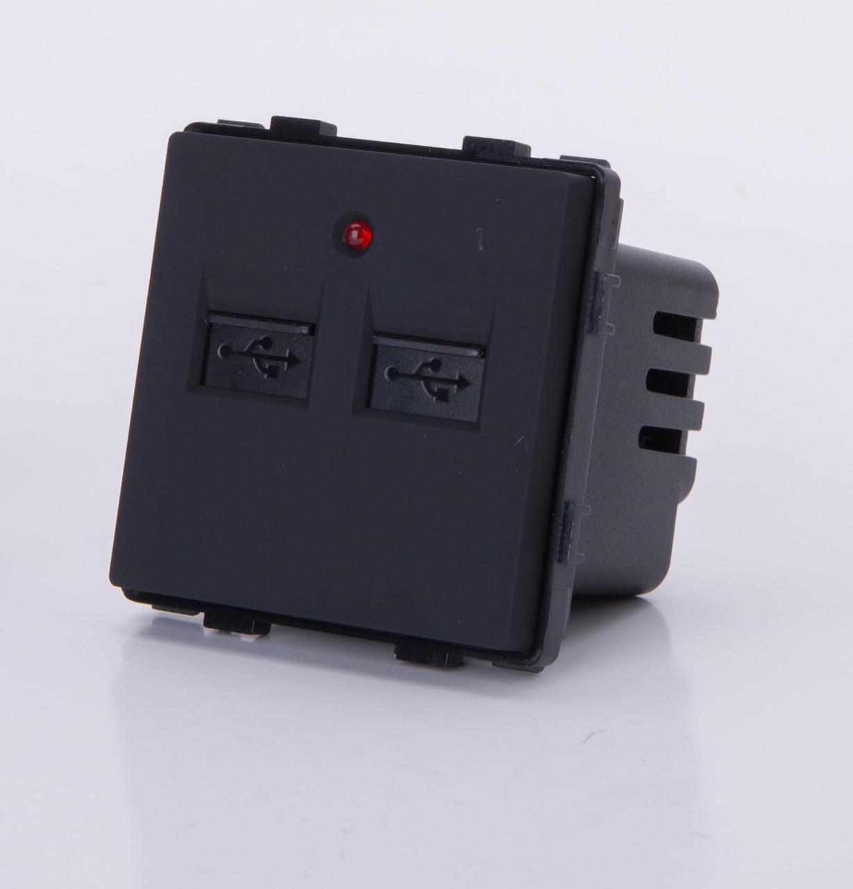 Модуль-USB розетка. Черный.