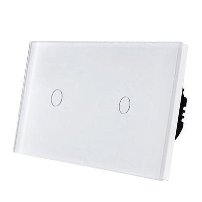 Парный сенсорный выключатель(1+1) Стекло