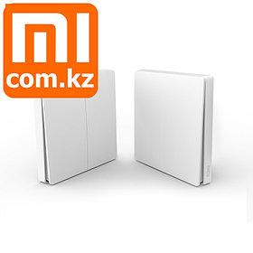 Беспроводной настенный выключатель света Xiaomi Mi Aqara Smart Light Switch dual, двойной, ZigBee. Арт.5270