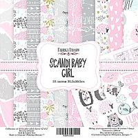 SCANDI BABY GIRL- набор двусторонней бумаги 30,5см х 30,5см, фото 1