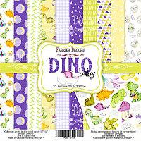 DINO BABY - набор двусторонней бумаги 30,5см х 30,5см, фото 1