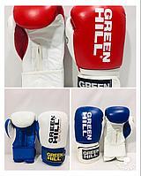 Перчатки для бокса и кикбоксинга Green Hill натуральная кожа
