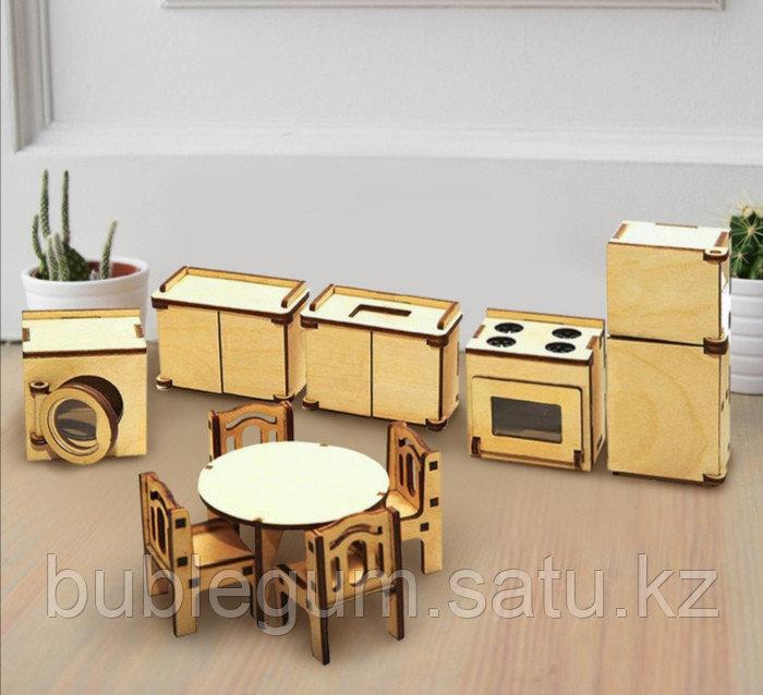 """Набор мебели для кукол """"Кухня"""" плоская, 10 предметов"""