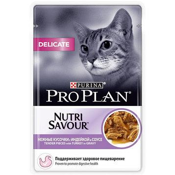 Влажный корм для кошек ПроПлан Деликат, Индейка в соусе