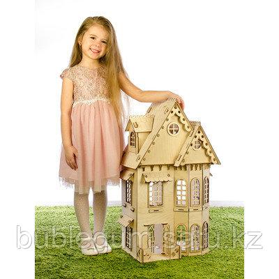 """Конструктор """"Кукольный домик"""", 2 этажа, фанера — 3 мм"""