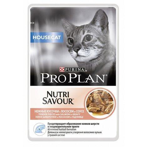 Влажный корм для кошек ПроПлан Housecat, Лосось в соусе