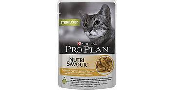 Влажный корм для стерилизованных кошек ПроПлан, Курица в соусе