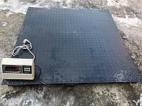 Весы платформенные, промышленные до 3000 кг. Размер 120 см на 120 см.