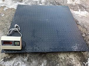 Весы платформенные, промышленные до 3000 кг. Размер 1,2м. на 1,5м., фото 2