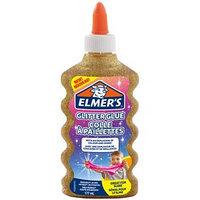 Клей канцелярский 200 г Elmers Glitter Glue, для слаймов, с блёстками, золотой