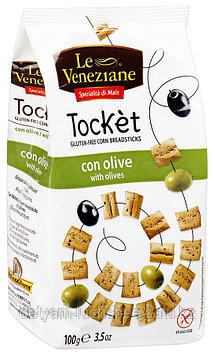 "Хлебные палочки Le Veneziane ""Токет"" с оливками 100г"