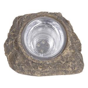 Светильник 4xLED декоративный для сада на солнечной батарее «Солнечный камень» OUTDOOR (Коричневый)