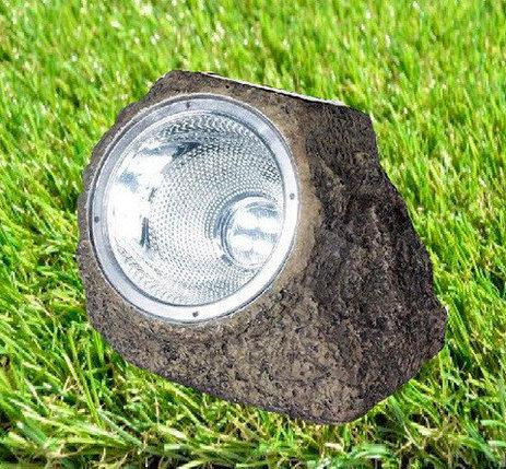 Светильник 4xLED декоративный для сада на солнечной батарее «Солнечный камень» OUTDOOR (Серый), фото 2