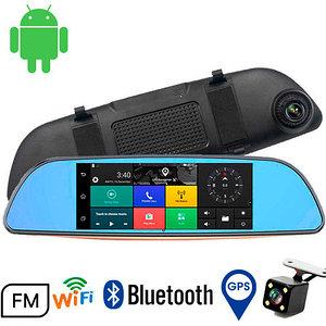"Зеркало-видеорегистратор на Android с камерой заднего вида Smart Car Rear [Bluetooth, WiFi, GPS, экран 7""]"