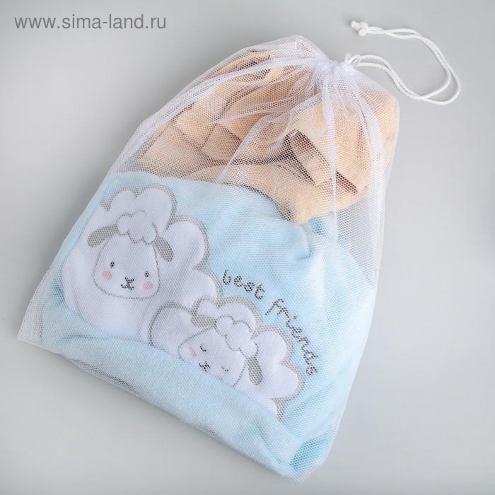 Мешок для стирки белья, 38×50 см, цвет белый - фото 1