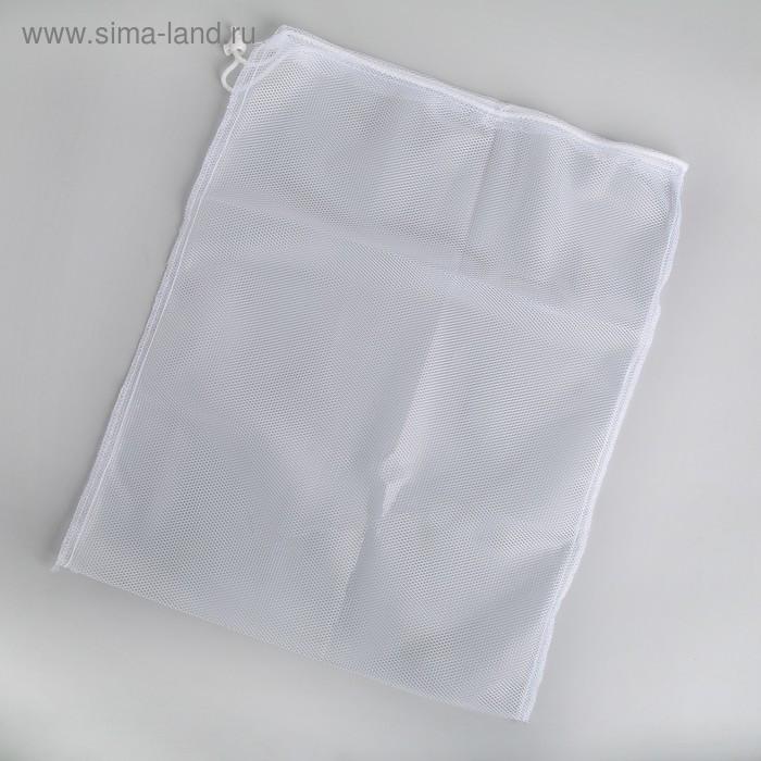 Мешок для стирки белья, 38×50 см, цвет белый - фото 2