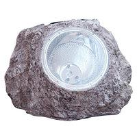 Светильник 4xLED декоративный для сада на солнечной батарее «Солнечный камень» OUTDOOR (Серый)