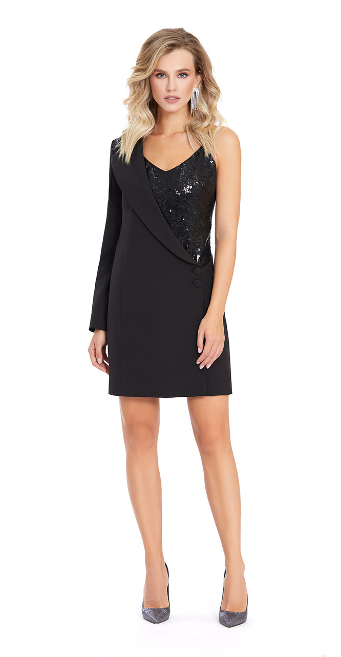 Платье PiRS-870/2, черный с блеском, 42