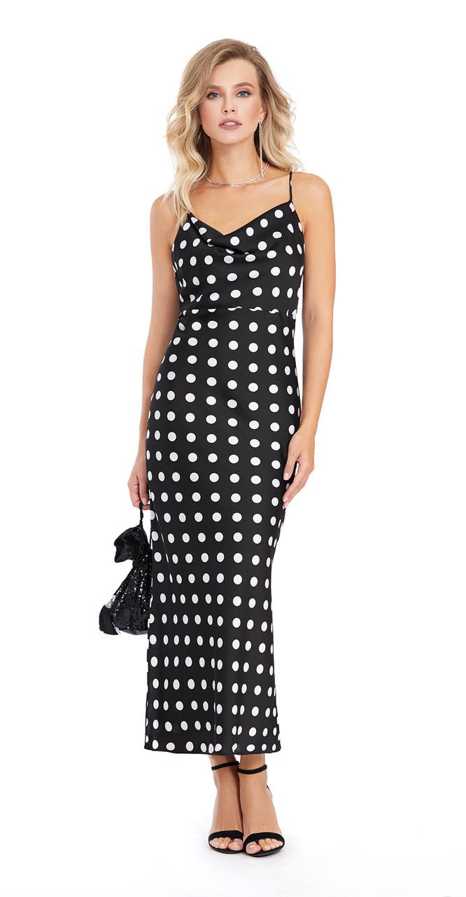 Платье PiRS-872, горохи, 42