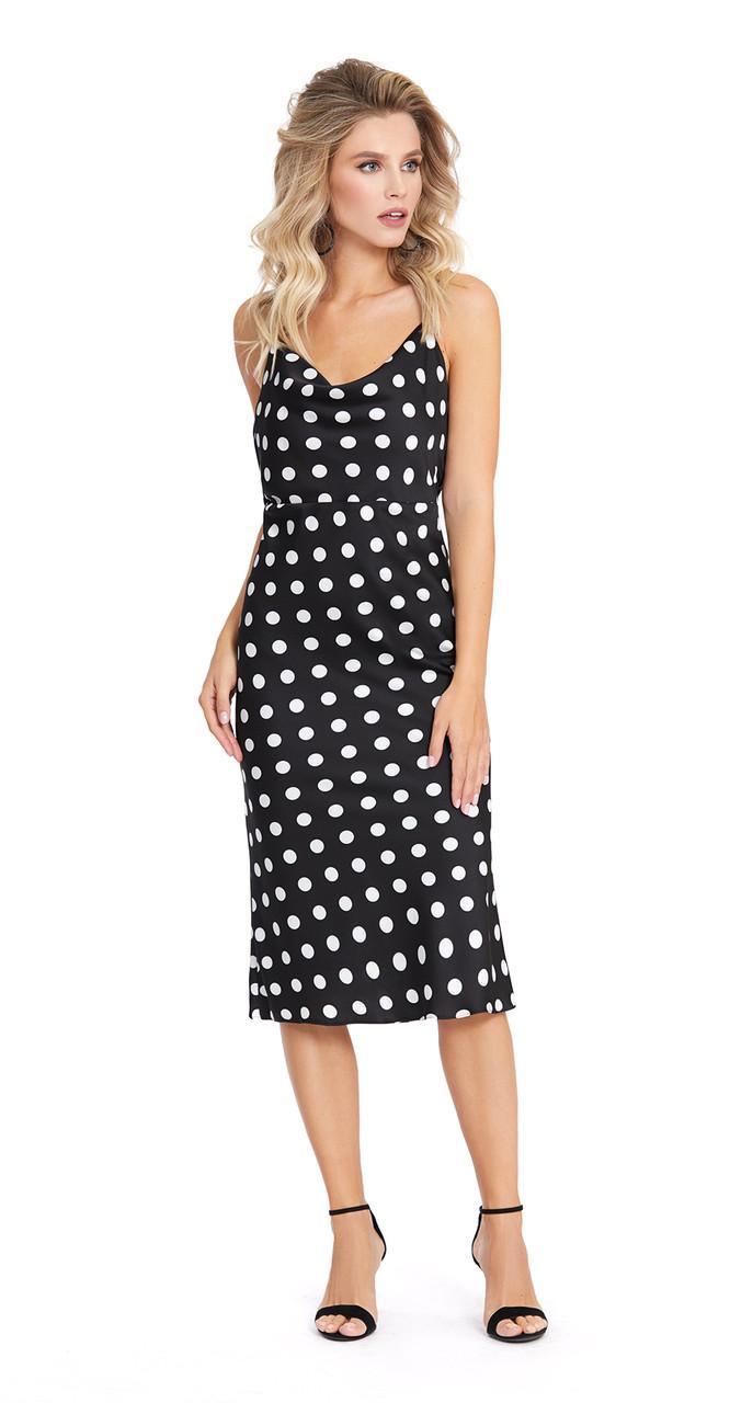 Платье PiRS-873/1, горох, 42