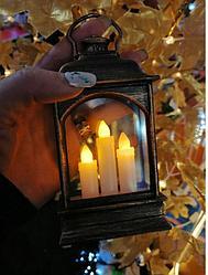 Новогодний пластиковый  светильник 14*6,5 размер