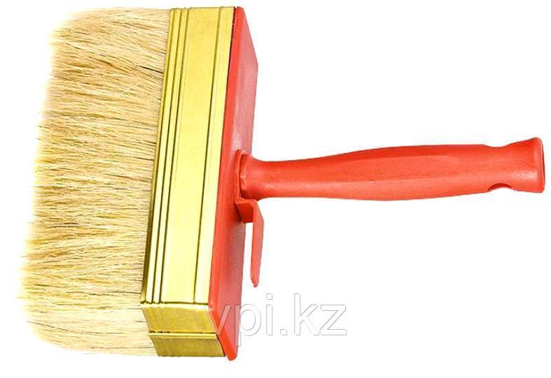 Кисть-ракля, натуральная щетина, пластмассовый корпус, пластмассовая ручка,  40*140мм. Sparta