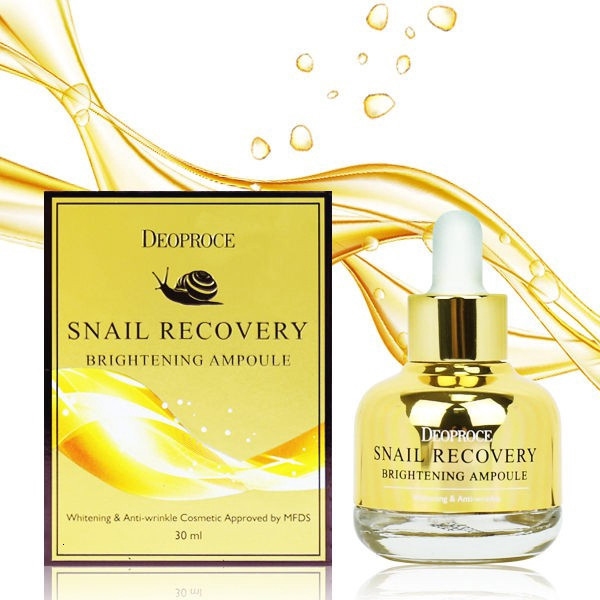 Сыворотка для лица на основе муцина улитки DEOPROCE Snail Recovery Brightening Ampoule 30 ml.
