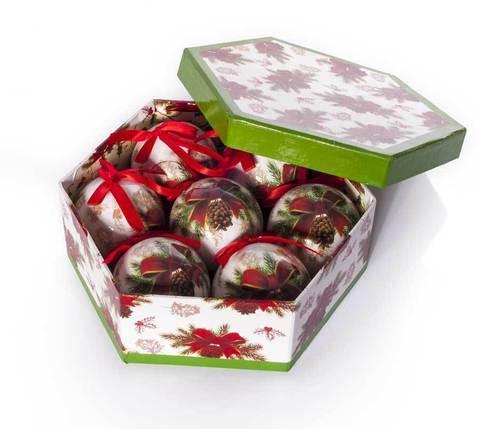 Набор елочных шаров с рисунком «Еловая шишка», 7 предметов, фото 2