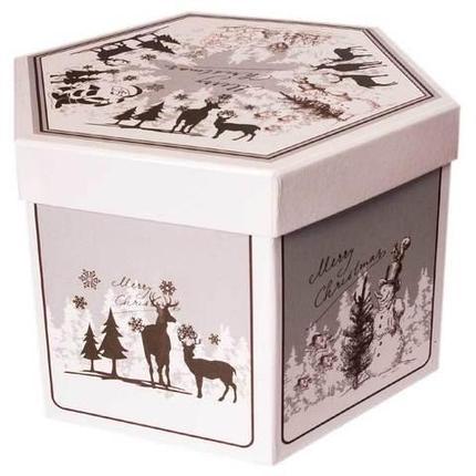 Набор елочных шаров с рисунком «Зимний лес», 14 предметов, фото 2