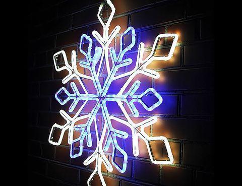Световая фигура из дюралайта «Снежинка» (Диаметр 100 см / Разноцветный), фото 2