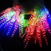 Электрогирлянда многоцветная RGB LED с плафонами, 4 метра (Шарик), фото 3