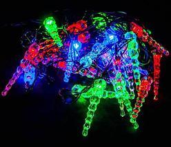Электрогирлянда многоцветная RGB LED с плафонами, 4 метра (Шарик), фото 2