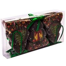Набор новогодних ёлочных игрушек «Имбирные пряники» (Елочки), фото 2