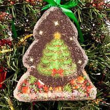Набор новогодних ёлочных игрушек «Имбирные пряники» (Варежки), фото 3
