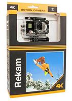 Экшен видеокамера 4К-Rekam A-340,  цвет черный.