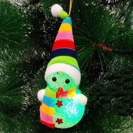 Сувенир новогодний «Светящийся снеговик», фото 2