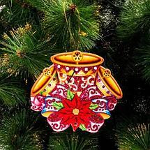 Комплект новогодних подвесок с глиттером «Праздник на пороге» [10 шт] (Снеговик), фото 2