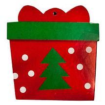 Комплект новогодних подвесок с глиттером «Праздник на пороге» [10 шт] (Дед Мороз и ёлка), фото 3
