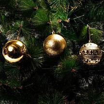 Набор елочных шаров MERRY CHRISTMAS в праздничной упаковке [12 шт] (Красный), фото 2