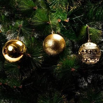 Набор елочных шаров MERRY CHRISTMAS в праздничной упаковке [12 шт] (Серебряный), фото 2