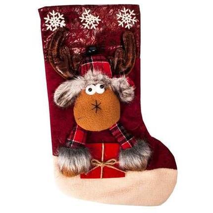 Рождественский носок для подарков с колокольчиком «Сказочный подарок» (Волшебный олень), фото 2