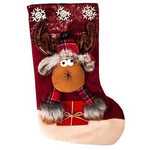 Рождественский носок для подарков с колокольчиком «Сказочный подарок» (Волшебный олень)