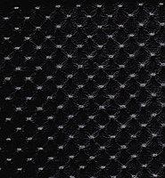 Кожаные панели 2D ЭЛЕГАНТ, Pulana Черный, 1200х2700 мм Казахстан