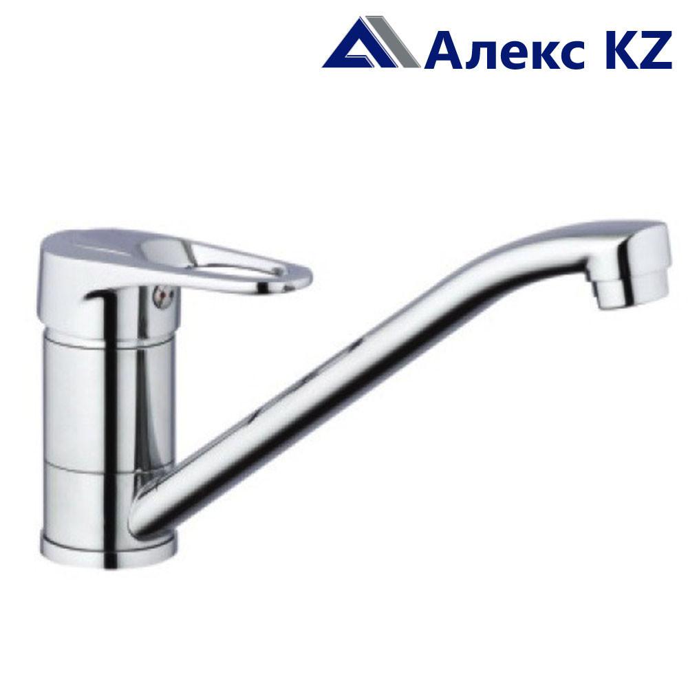 Смеситель ZEGOR PDF4-А043  одноручный для кухни с поворотным изливом,латунь,гайка (корона)