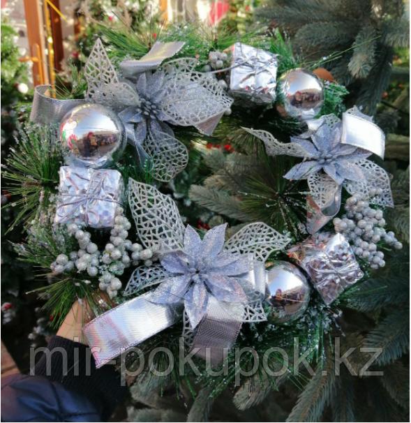 Новогодний и рождественский венок 25 см