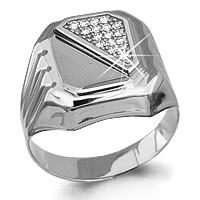 Кольцо из серебра с фианитом   Aquamarine 62121А.5 размеры - 21